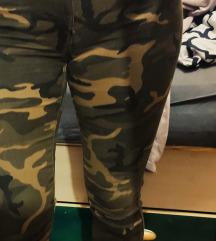 Military hlače visoki struk