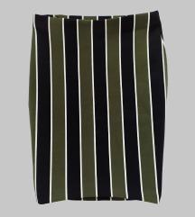 H&M bodycon suknja s vertikalnim prugama
