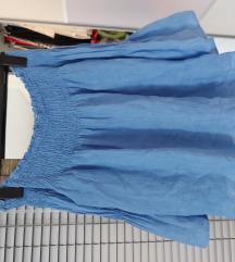 Lanena bluza spuštenih ramena