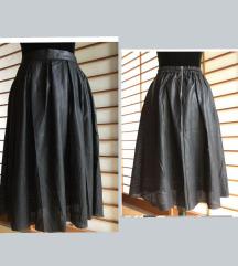 REZ Zara crna mrežasta kožna suknja široka