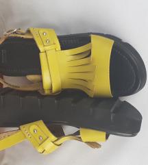 NOVE ASOS žute kožne platforme