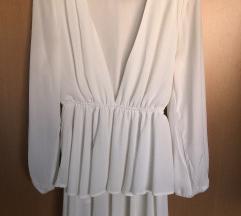 SNIŽENO! LIONESS Bijela haljina sa dugim rukavima