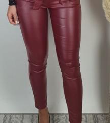 Nove bordo hlače eko koža s etiketom