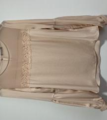 Roza svilena bluza pt gratis ‼️