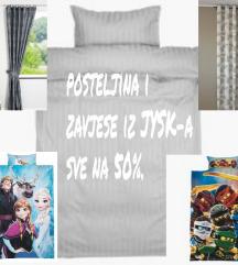 Posteljina i zavjese iz JYSK-a 50%