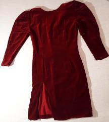 Vintage bordo haljina šivana po mjeri