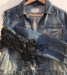 Jeans jakna s resama