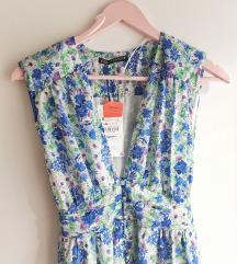 Zara cvjetna haljina bez rukava s etiketom