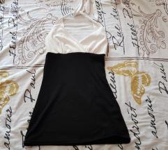 Crno bijela majica (vezanje oko vrata)