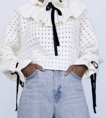 Zara sweaters džemper s volanima xs/s