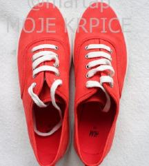 CRVENE H&M PATIKE-jednom nošene/PONUDITE CIJENU!