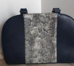 Tamno plava poslovna torba