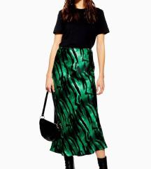 SNIŽENO!! Duga zelena suknja sa uzorkom
