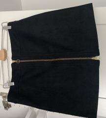 Crna suknja od barsuna