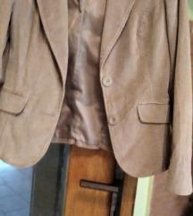 Bež jaknica od sitnog samta+ elastin vel 38/40