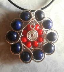 Unikatna ogrlica od žice i perli