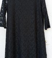 Crna čipkana haljina XL/XXL