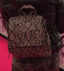 Stradivarius snakeskin backpack