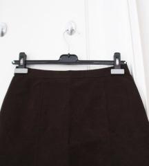 Retro smeđa suknjica
