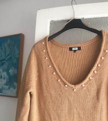 Smedi pulover sa biserima na jedno rame ✨✨