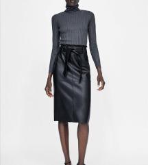 Zara kožna suknja