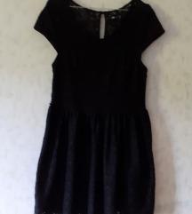 Crna haljina od čipke - sniženo