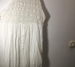 -30% Duga bijela pull&bear haljina s-m