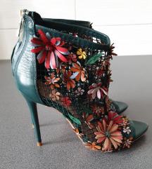 Zara floral mesh sandale