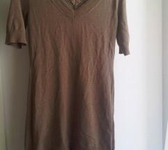 Smeđa tunika/haljina s tilom S/M
