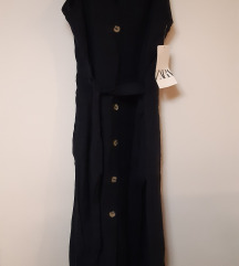 Nova zara lanena haljina sa pojasom