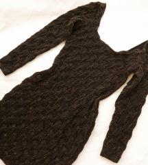 H&M crno-zlatna haljina