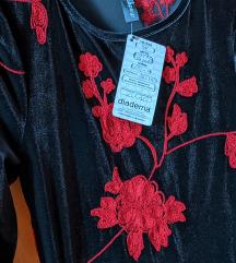Embedded floral haljina