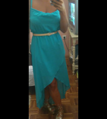 Zelena haljina na preklop