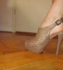 Krem štikle/sandale