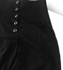 Crna suknja visoki struk