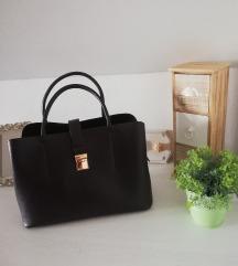 H&M bordo shopper torba