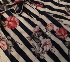 Lepršave hlače sa cvjetnim uzorkom