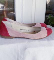 Peko roza cipele brušena koža