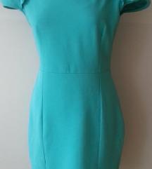 Zelena haljina puf rukavi 36 38