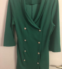 Zelena sako haljina