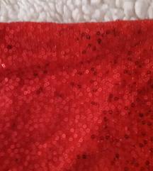 Crvena svjetlucava majica