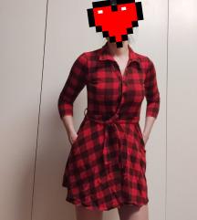 ♦️ Kosulja/haljina karirana crvena ♦️