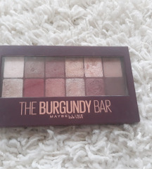 Maybelline burgundy bar paleta sjenila