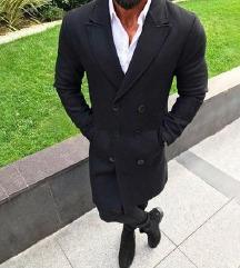Novi muški crni tanki kaput za jesen/proljeće