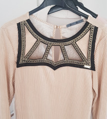 PS Fashion zlatna midi haljina