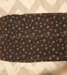 ZARA floral traper pencil suknja kao nova