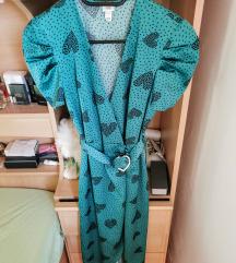 Asos smaragdna midi haljina
