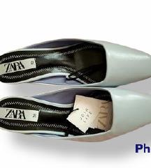 Cipele Zara, pasel, kitten peta  NOVO