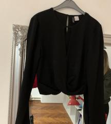 H&M crna crop  košulja