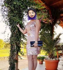 Bež haljina sa šljokicama